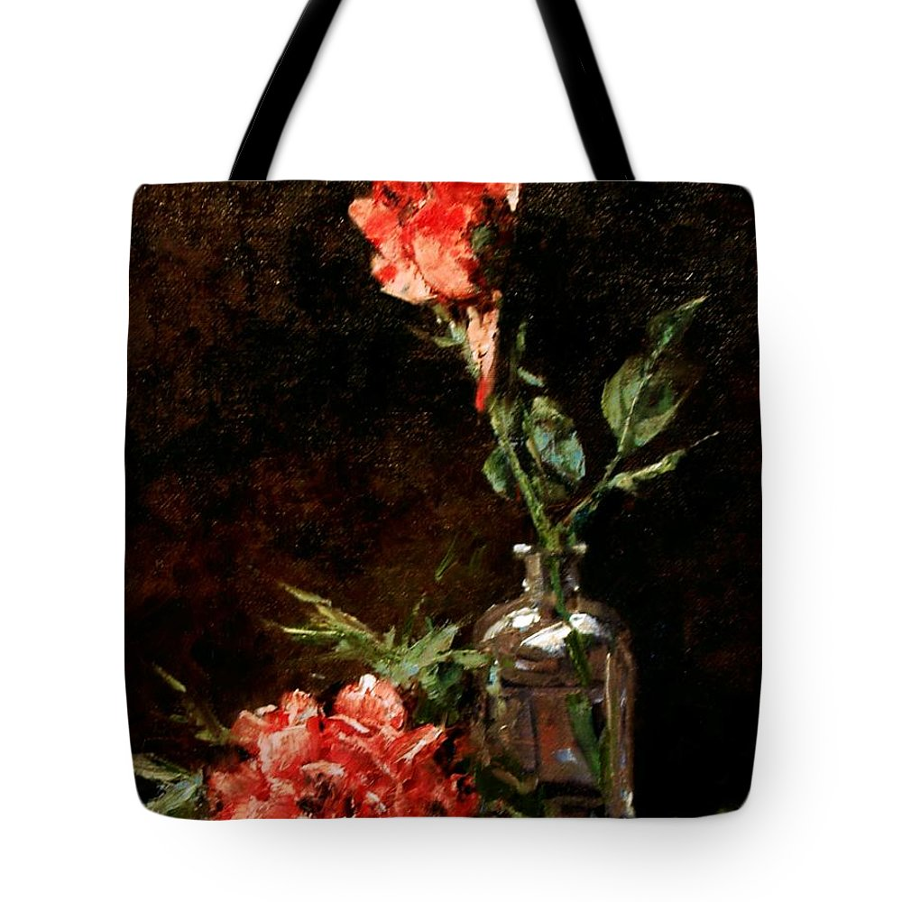 Floral Tote Bag featuring the painting Wild Irish by Jim Gola