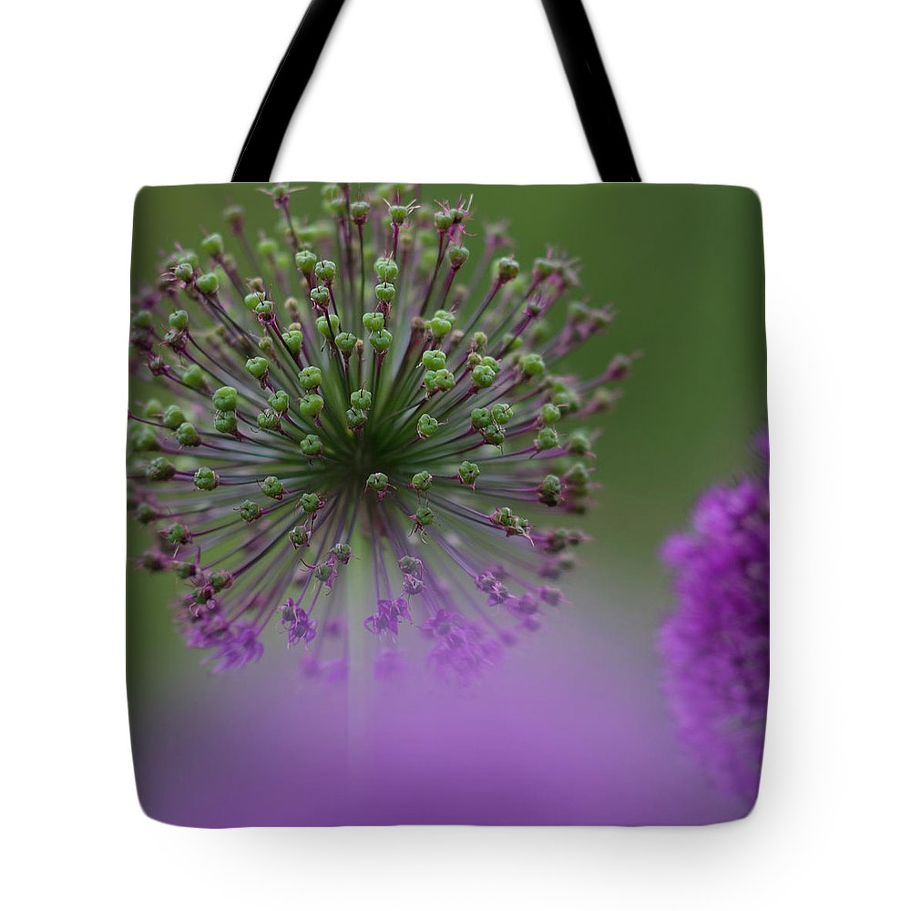 Allium Tote Bag featuring the photograph Wild Onion by Heiko Koehrer-Wagner