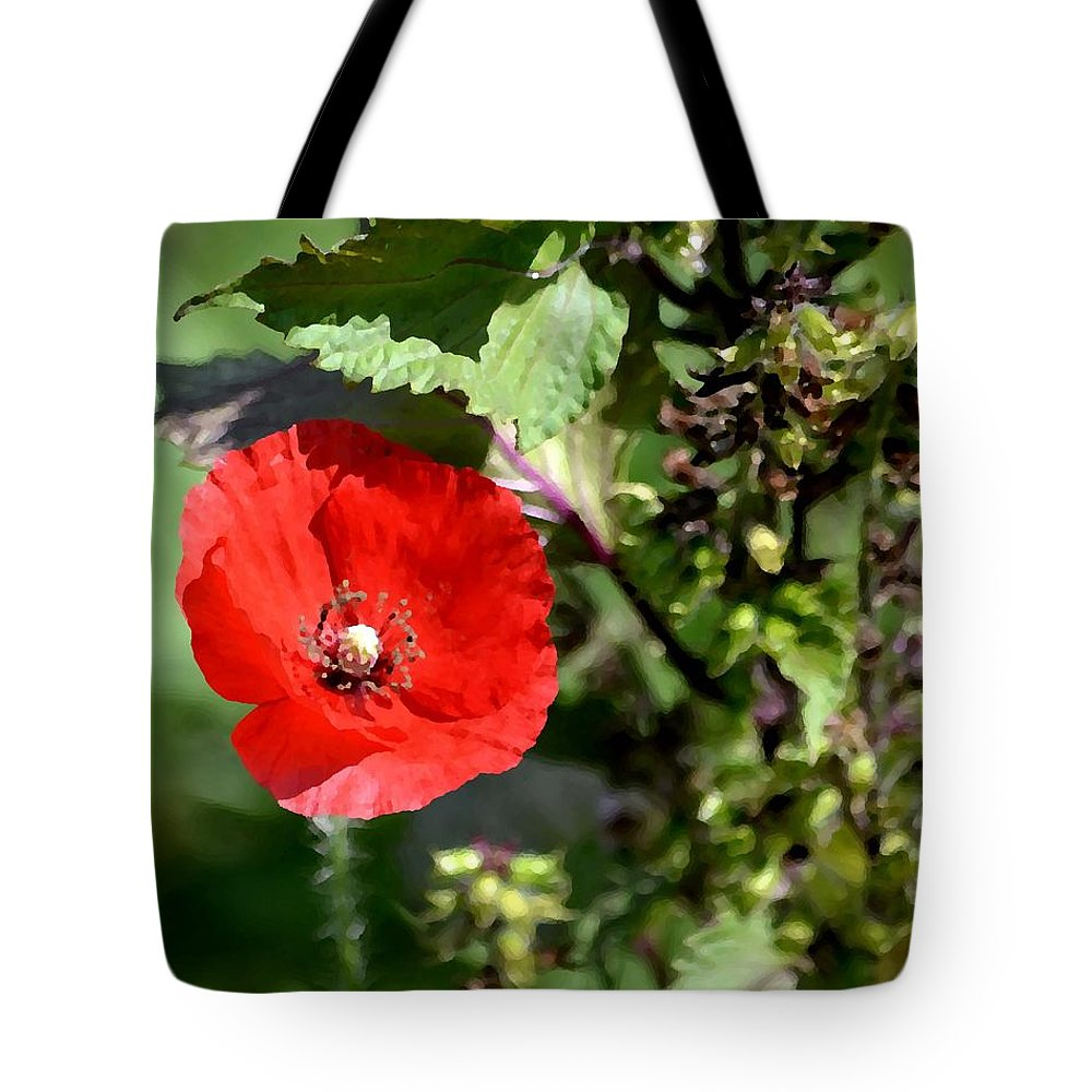 Flower Tote Bag featuring the photograph Wild Poppy by Deena Stoddard
