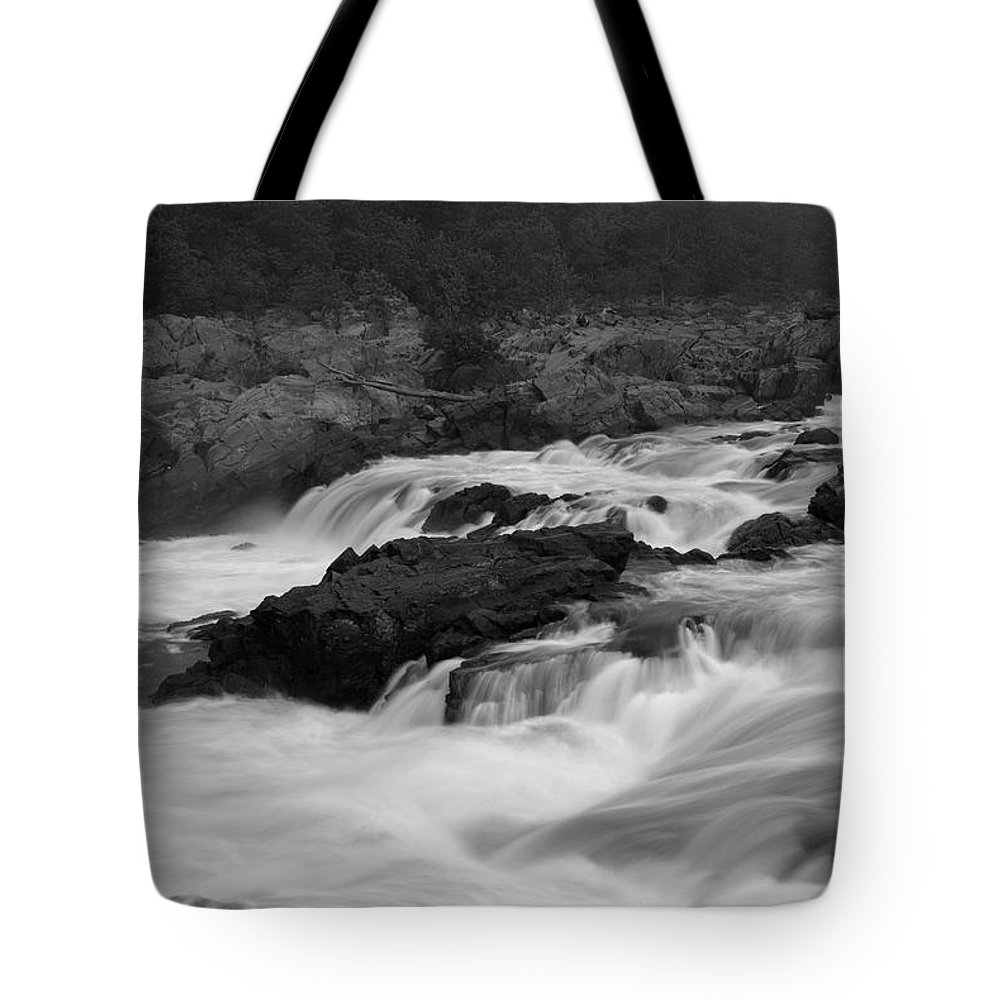 Great Falls Tote Bag featuring the photograph Wild Potomac River by Benjamin Reed
