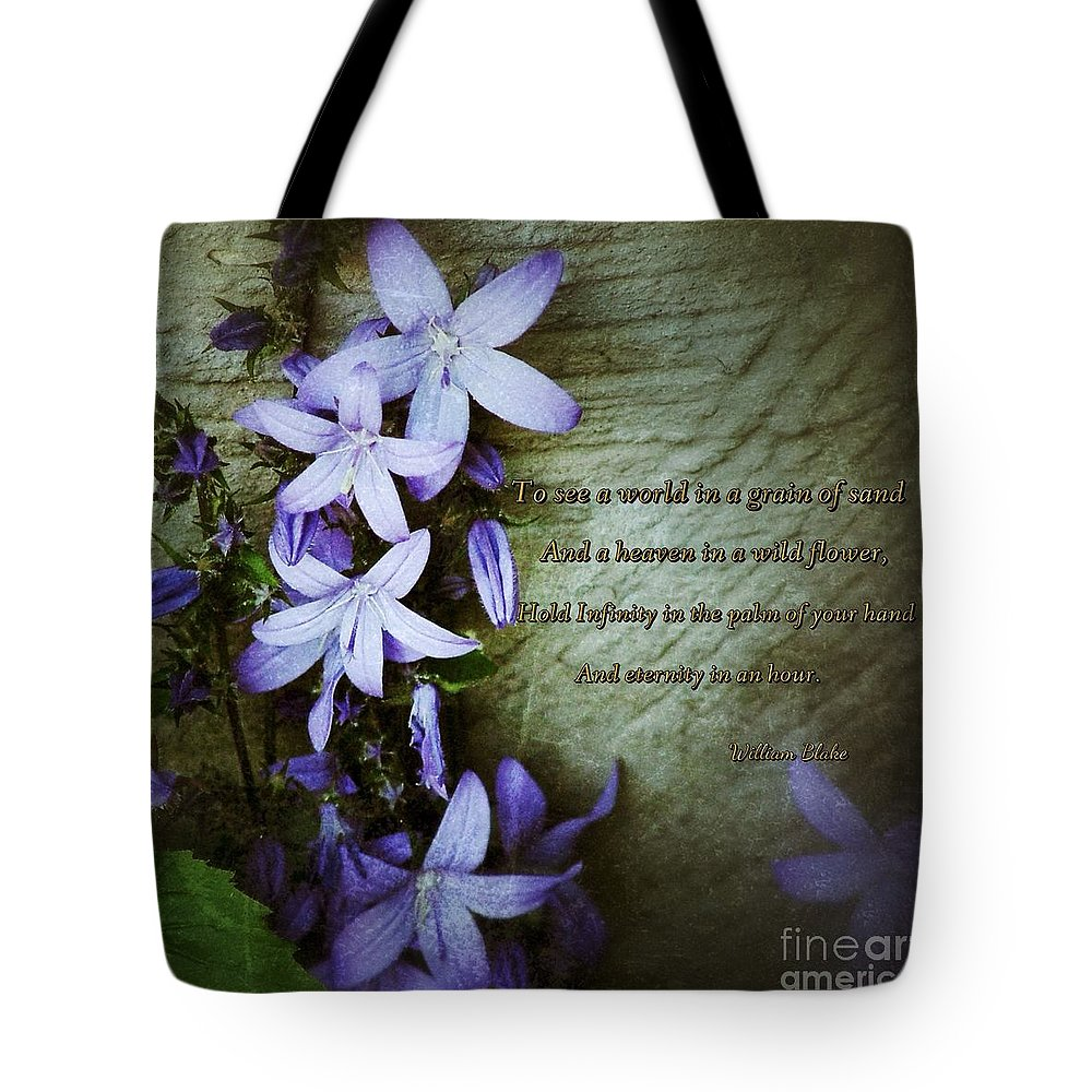 Wild Flowers Tote Bag featuring the photograph Wild Star Flowers And Innocence by Joan-Violet Stretch