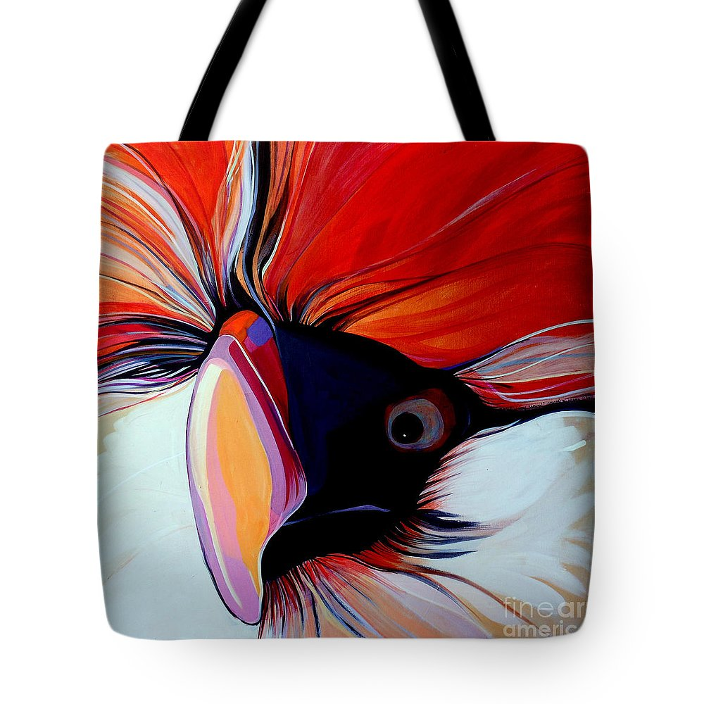 Bird Tote Bag featuring the painting Wild Thang by Marlene Burns