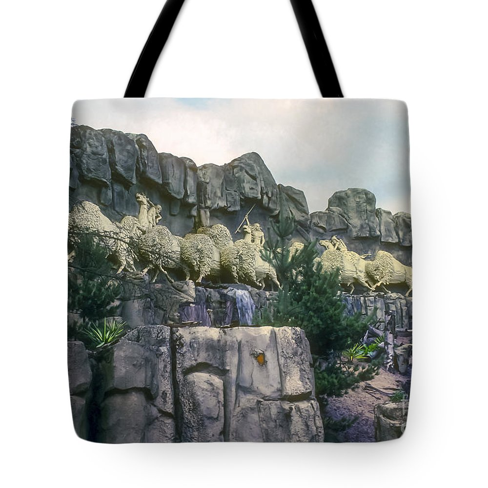 Legoland Billund Denmark Lego Legos Tree Trees Replica Replicas Artwork Odds And Ends Tote Bag featuring the photograph Wild West by Bob Phillips