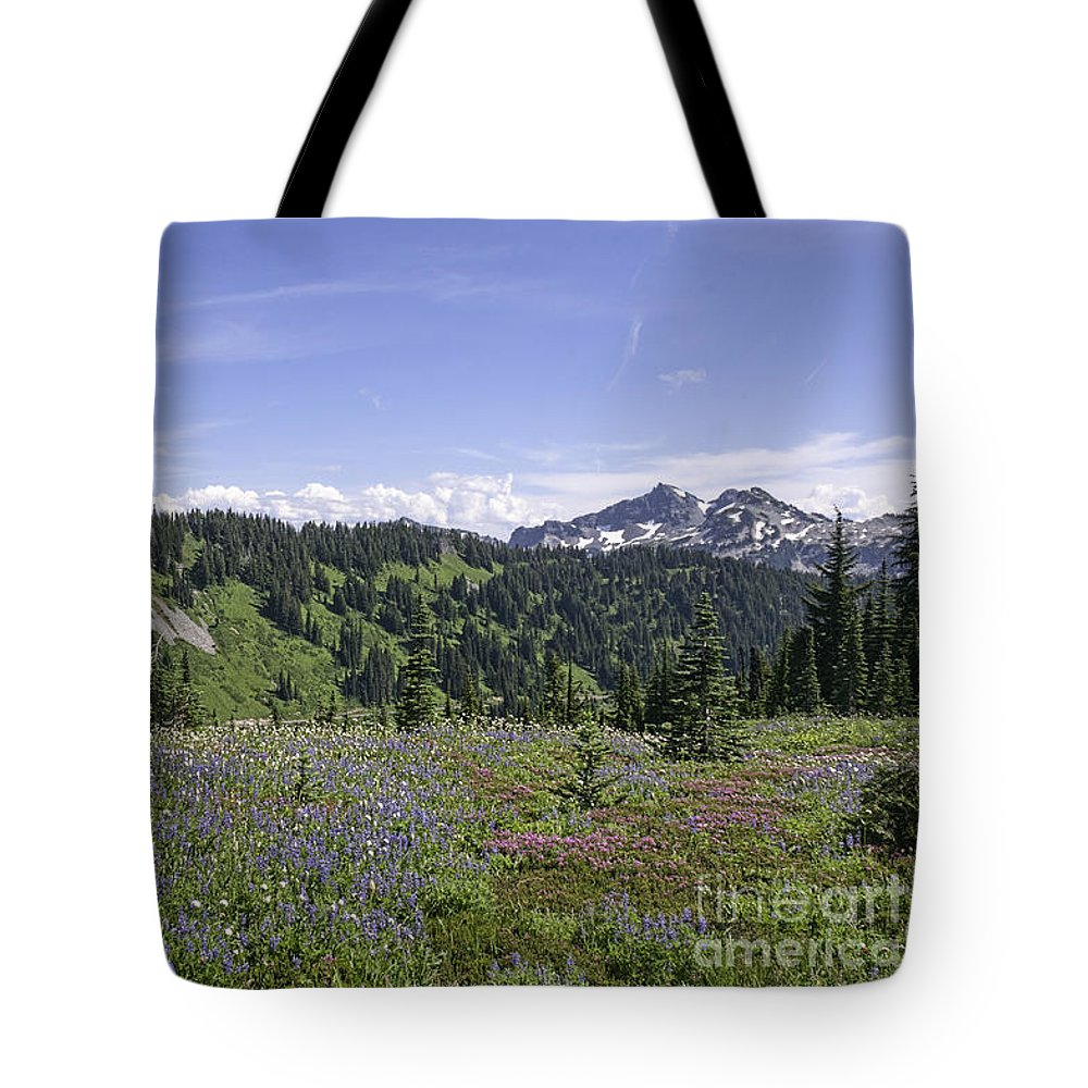 Wildflowers Tote Bag featuring the photograph Wildflower Vista by Sharon Seaward