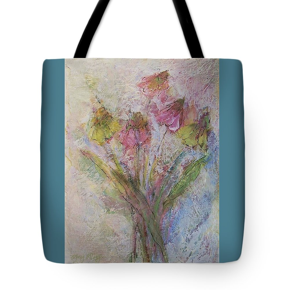 Wildflowers Tote Bag featuring the painting Wildflowers 2 by Mary Wolf