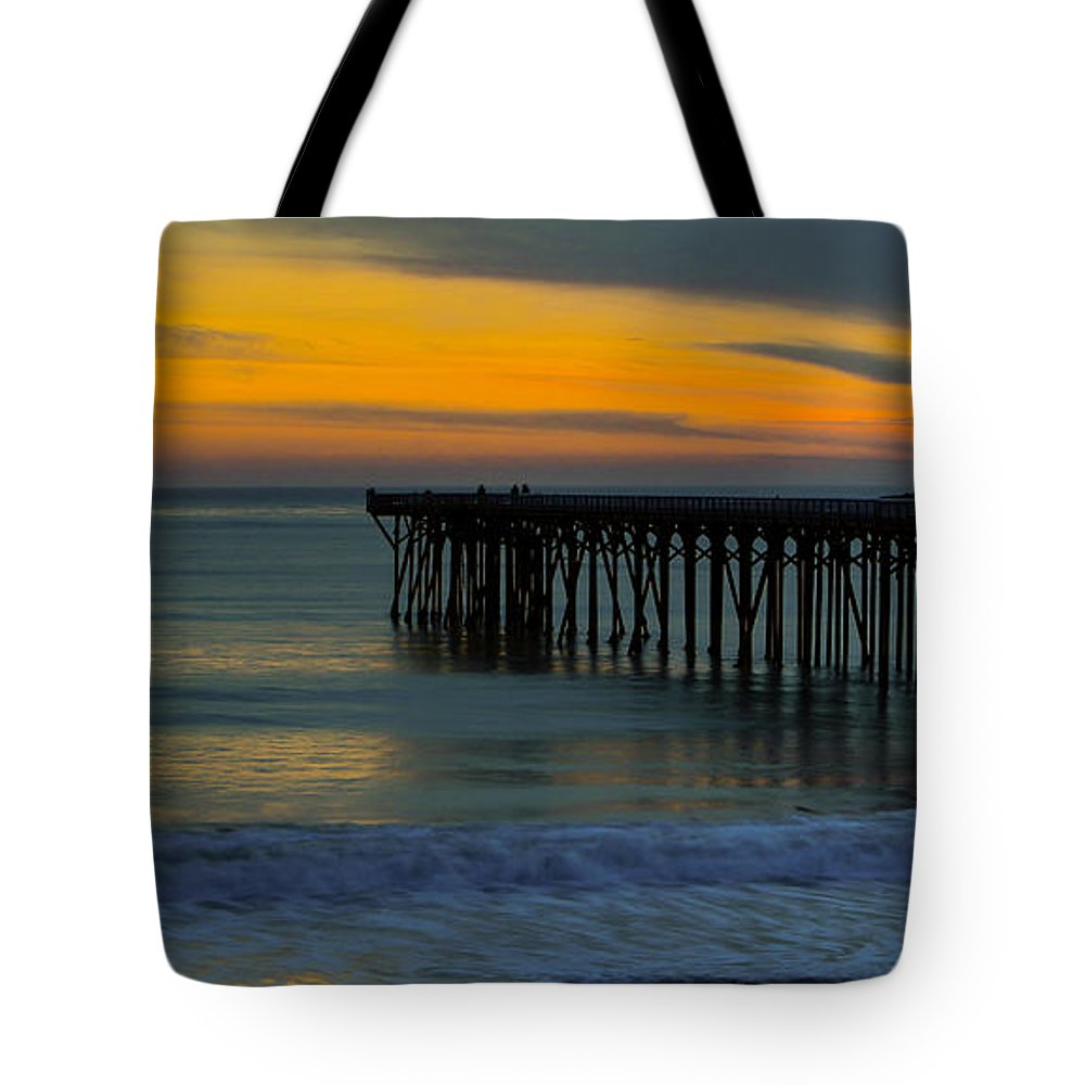 Pier Tote Bag featuring the photograph William R. Hearst Memorial State Beach Pier by Duncan Selby