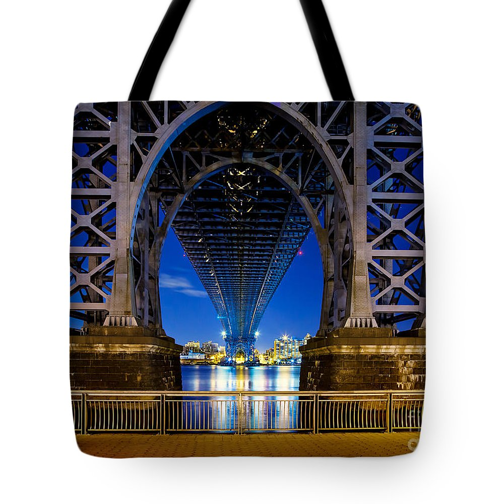 Williamsburg Bridge Tote Bag featuring the photograph Blue Punch by Az Jackson