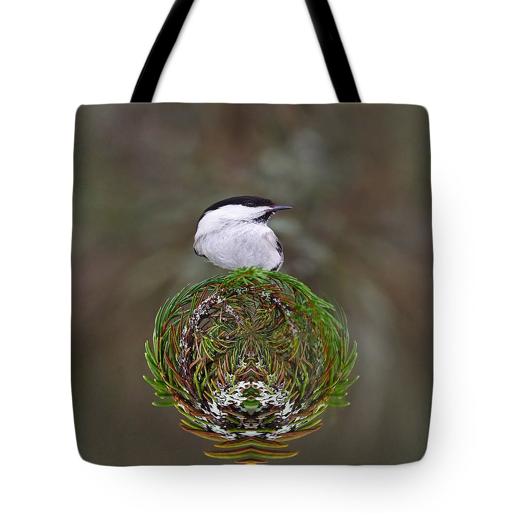 Finland Tote Bag featuring the photograph Willow Tits Planet by Jouko Lehto