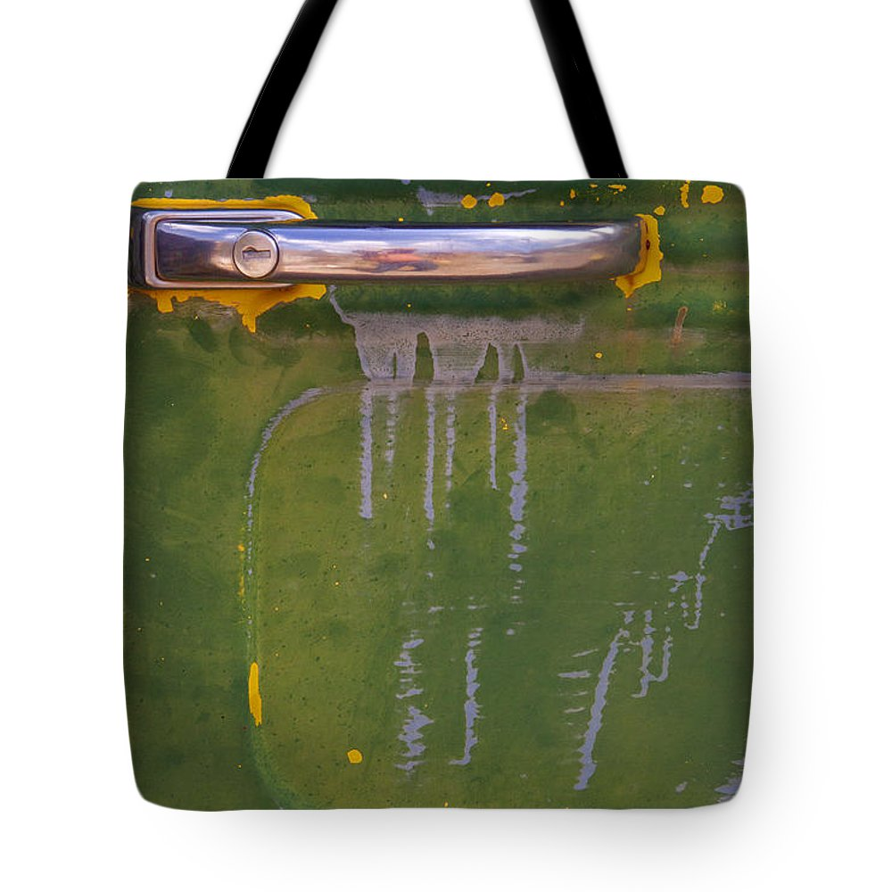 Willy's Door Tote Bag featuring the photograph Willy's Door  #1007 by J L Woody Wooden