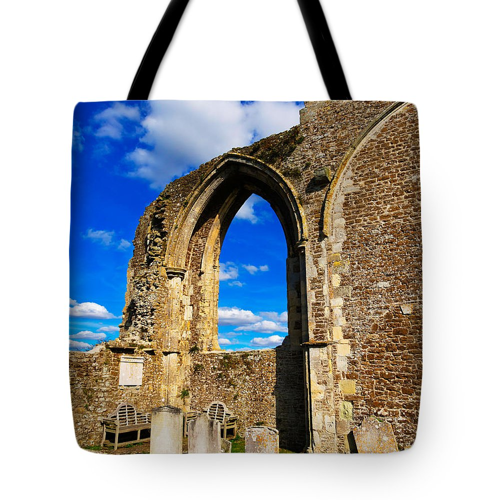 Ruin Tote Bag featuring the photograph Winchelsea Church by Louise Heusinkveld