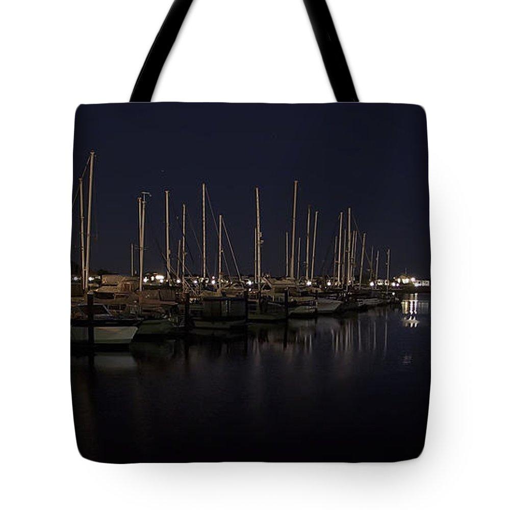 fishing Boats Tote Bag featuring the photograph Winchester Bay Marina - Oregon Coast by Daniel Hagerman