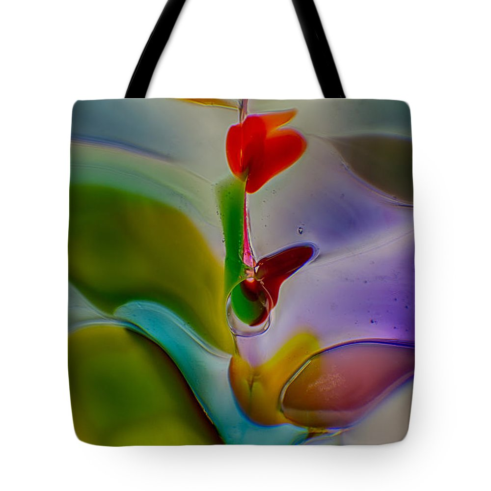 Blue Tote Bag featuring the photograph Wind Flower by Omaste Witkowski