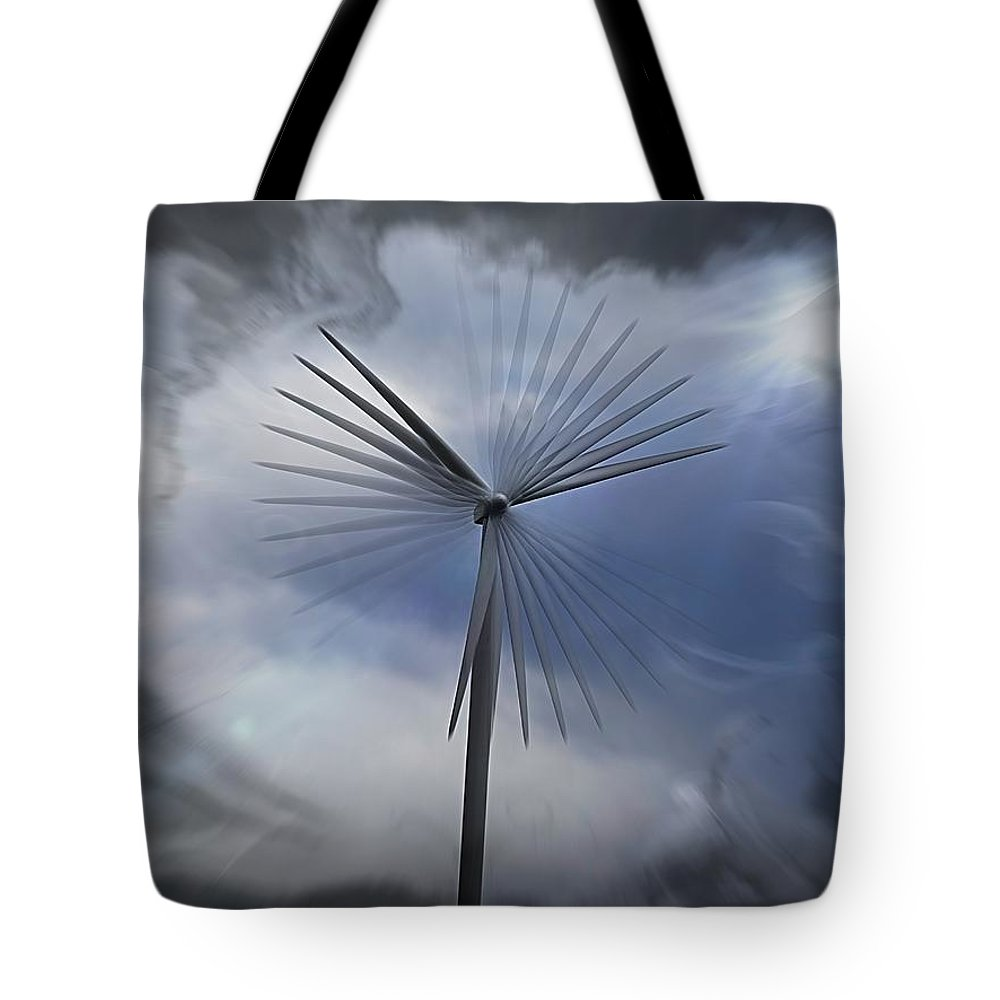 Wind Tote Bag featuring the photograph Wind Power by Nick Kloepping