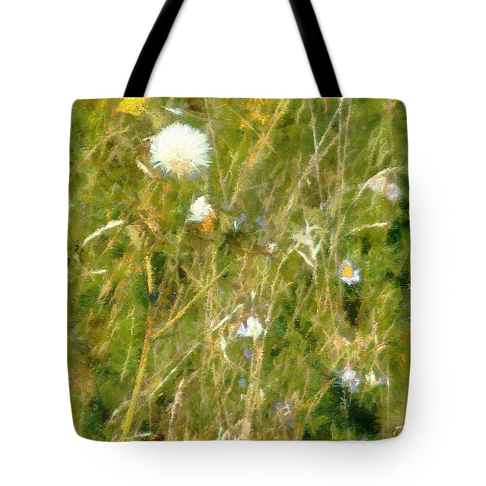 Bluets Tote Bag featuring the painting Wind Through The Meadow by RC DeWinter