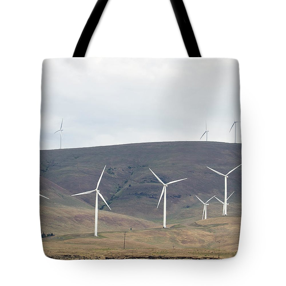 Wind Tote Bag featuring the photograph Wind Turbine Power Farm by Jit Lim