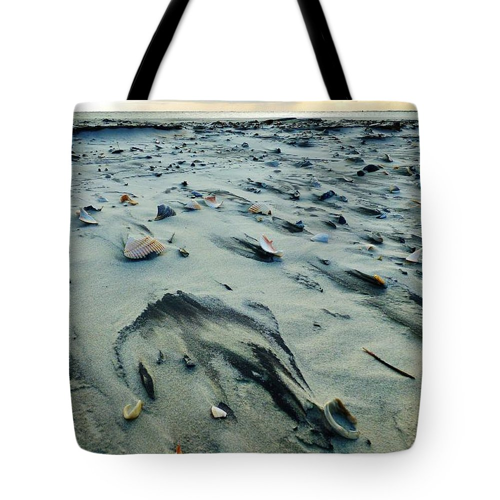 Beach Tote Bag featuring the photograph Windblown Beach by Holly Dwyer