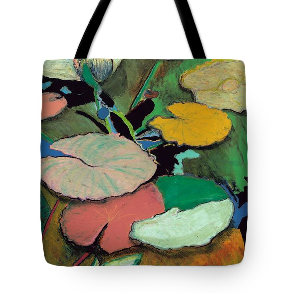 Landscape Tote Bag featuring the painting Windchime Spring by Allan P Friedlander