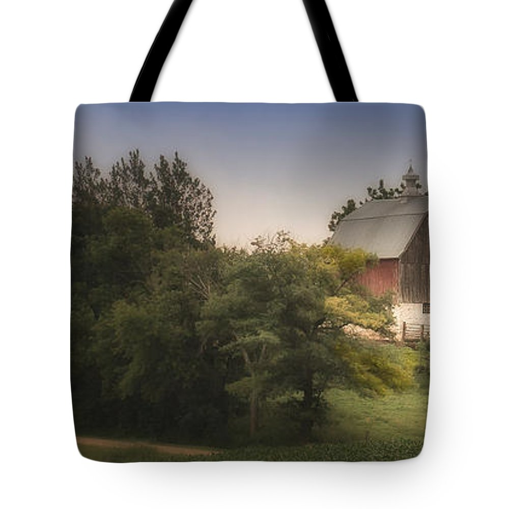 Rural Tote Bag featuring the photograph Winding Home by Melinda Martin