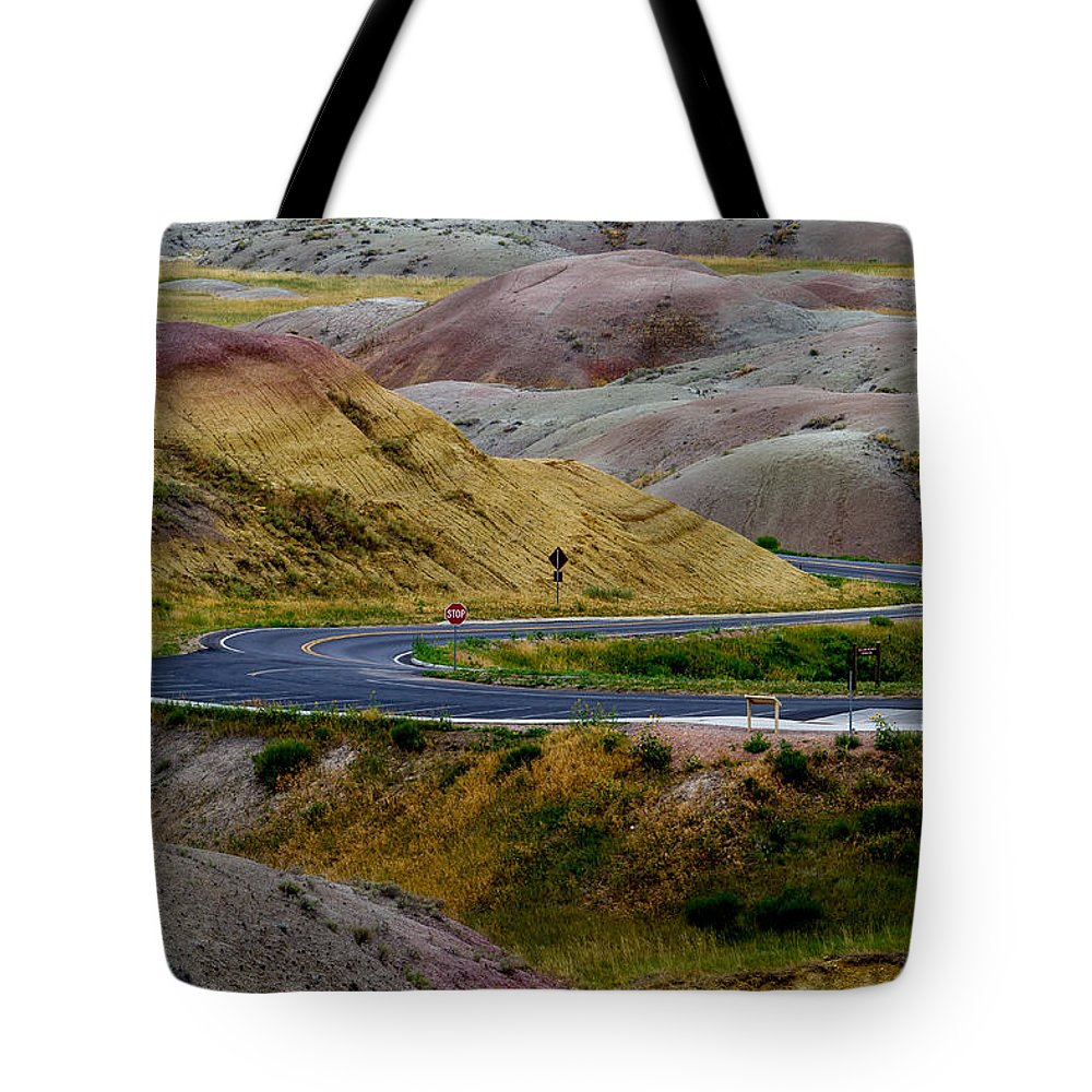 Winding Tote Bag featuring the photograph Winding Road by Bill Lindsay
