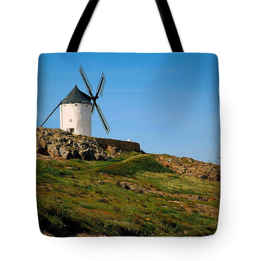Windmill Tote Bag featuring the photograph Windmill Hill by Roberta Bragan