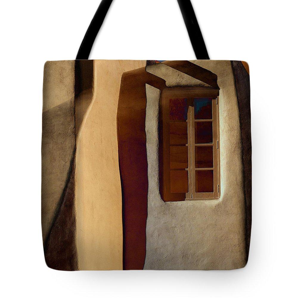 Window Tote Bag featuring the photograph Window De Santa Fe by Carol Leigh