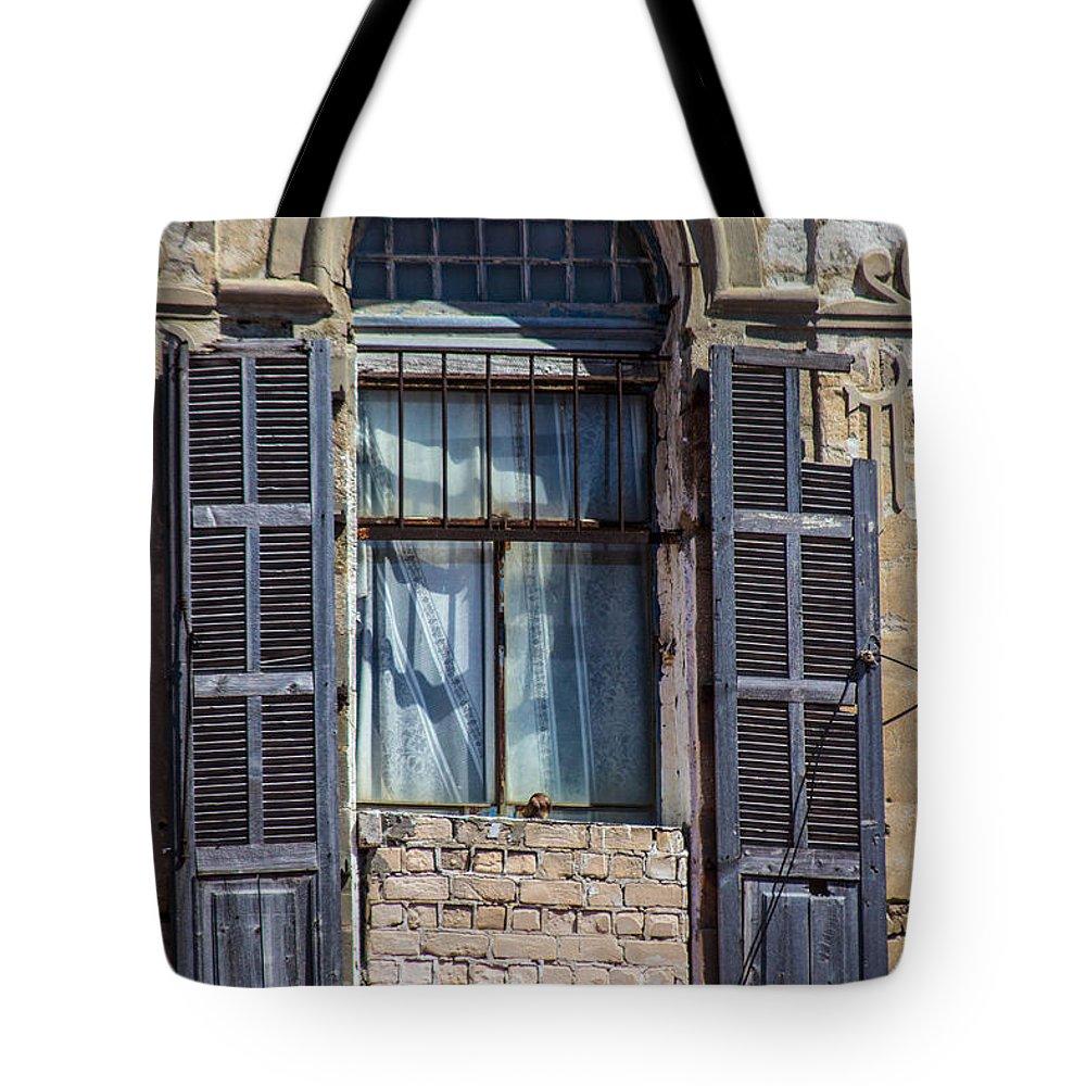 Tel Aviv Tote Bag featuring the photograph Window In Tel Aviv by Joshua Van Lare