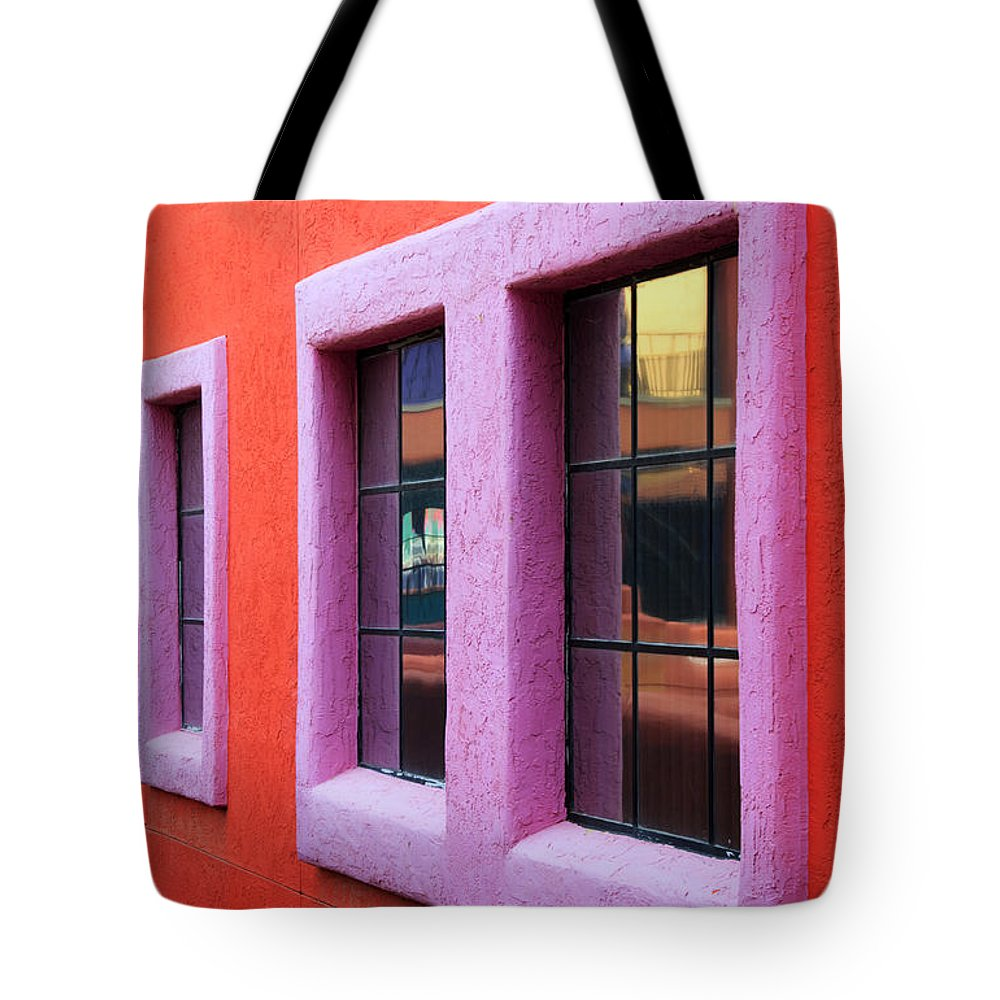 Window Reflections Tote Bag featuring the photograph Window Reflections 2 by Vivian Christopher
