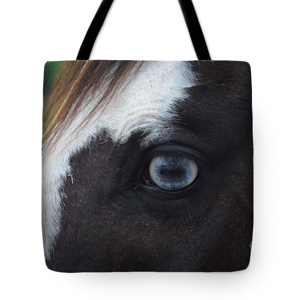 Horse Tote Bag featuring the photograph Window To The Soul by Deanna Cagle