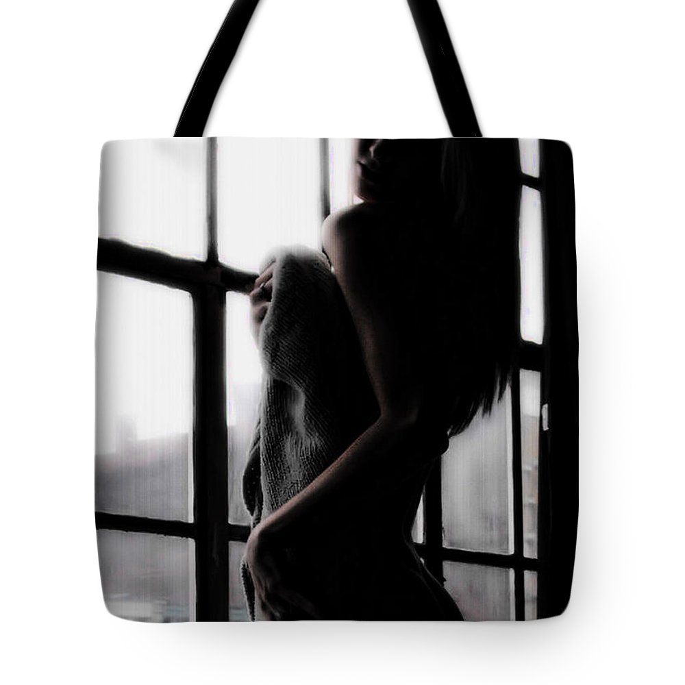 Serne Tote Bag featuring the photograph Window With A View by Kristie Bonnewell