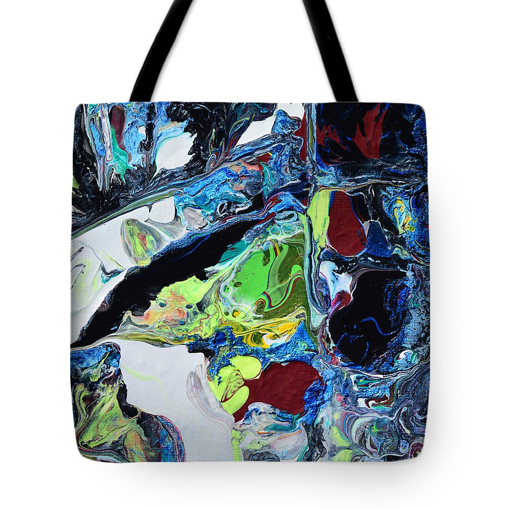 Modern Tote Bag featuring the painting Windows And Waterfalls by Donna Blackhall