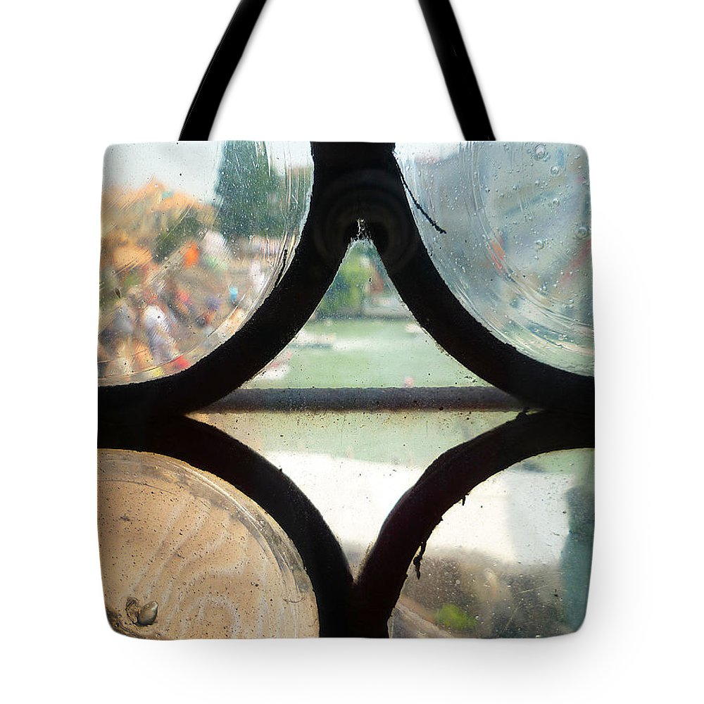 Window Tote Bag featuring the photograph Windows Of Venice View From Art Academy by Irina Sztukowski