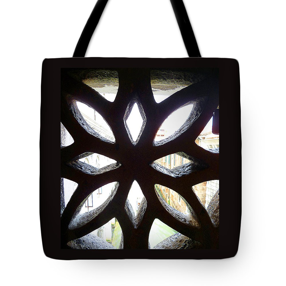 Window Tote Bag featuring the photograph Windows Of Venice View From Doge Palace by Irina Sztukowski