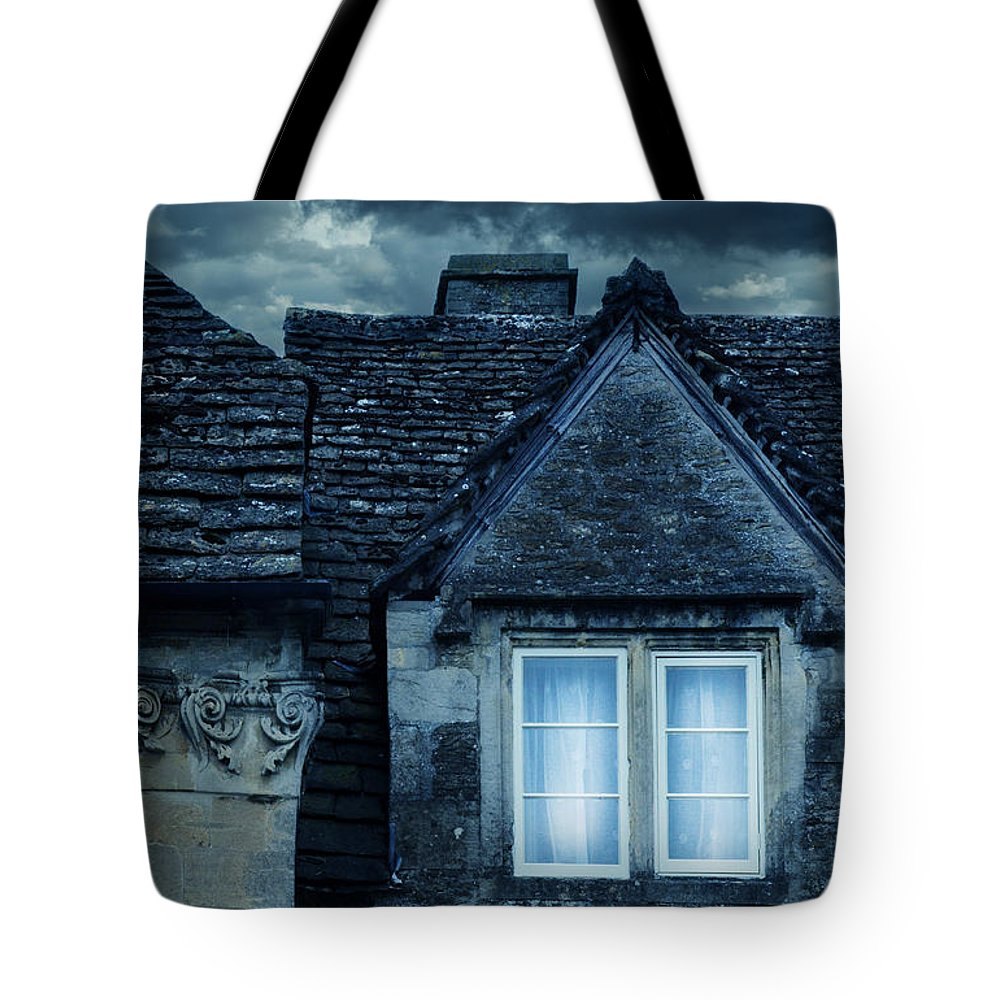 Window Tote Bag featuring the photograph Windows On Stormy Night by Jill Battaglia