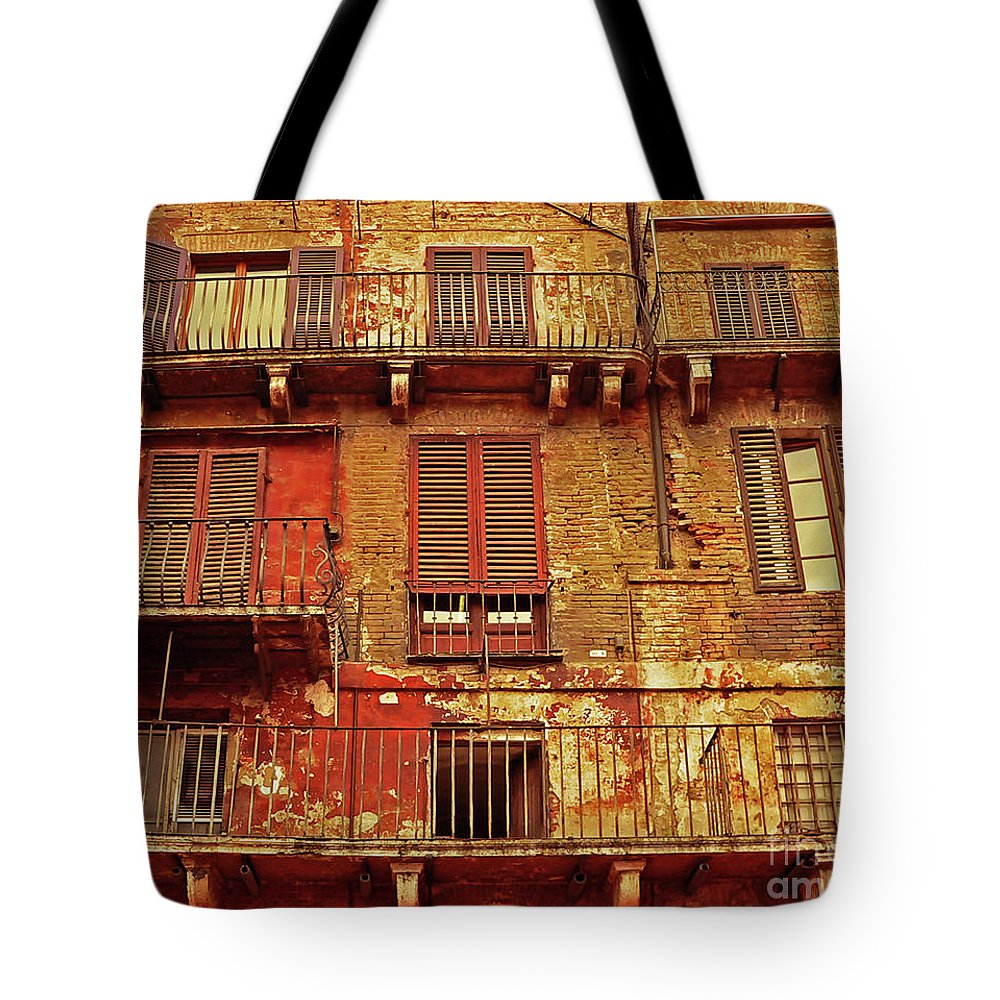 Window Tote Bag featuring the photograph Windows With A View by Angela Wright