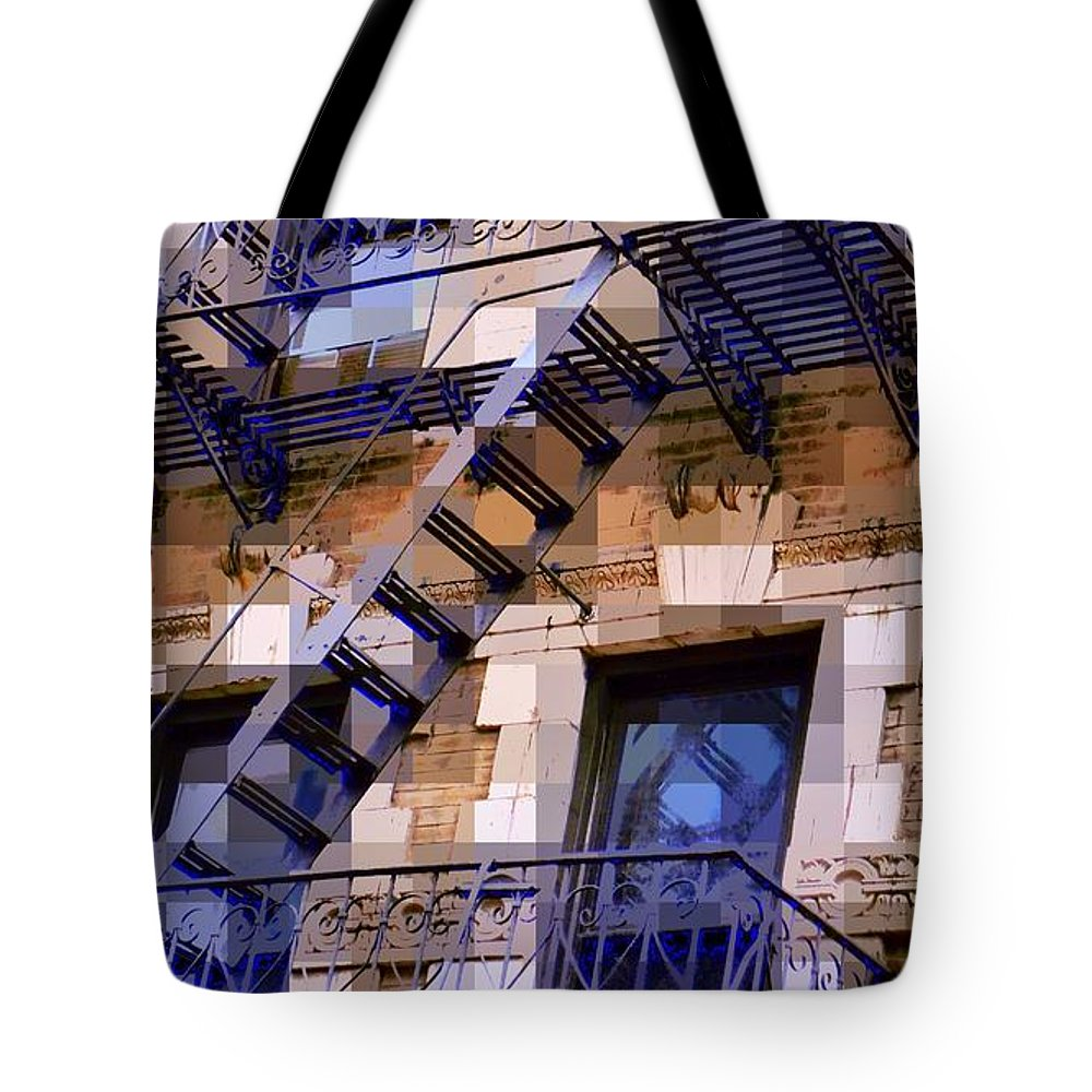 Architecture Of New York City Tote Bag featuring the photograph Windowscape 7 - Old Buildings Of New York City by Miriam Danar