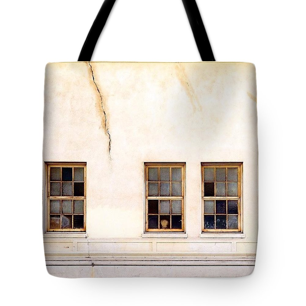 Windows_aroundtheworld Tote Bag featuring the photograph Window Trio by Julie Gebhardt