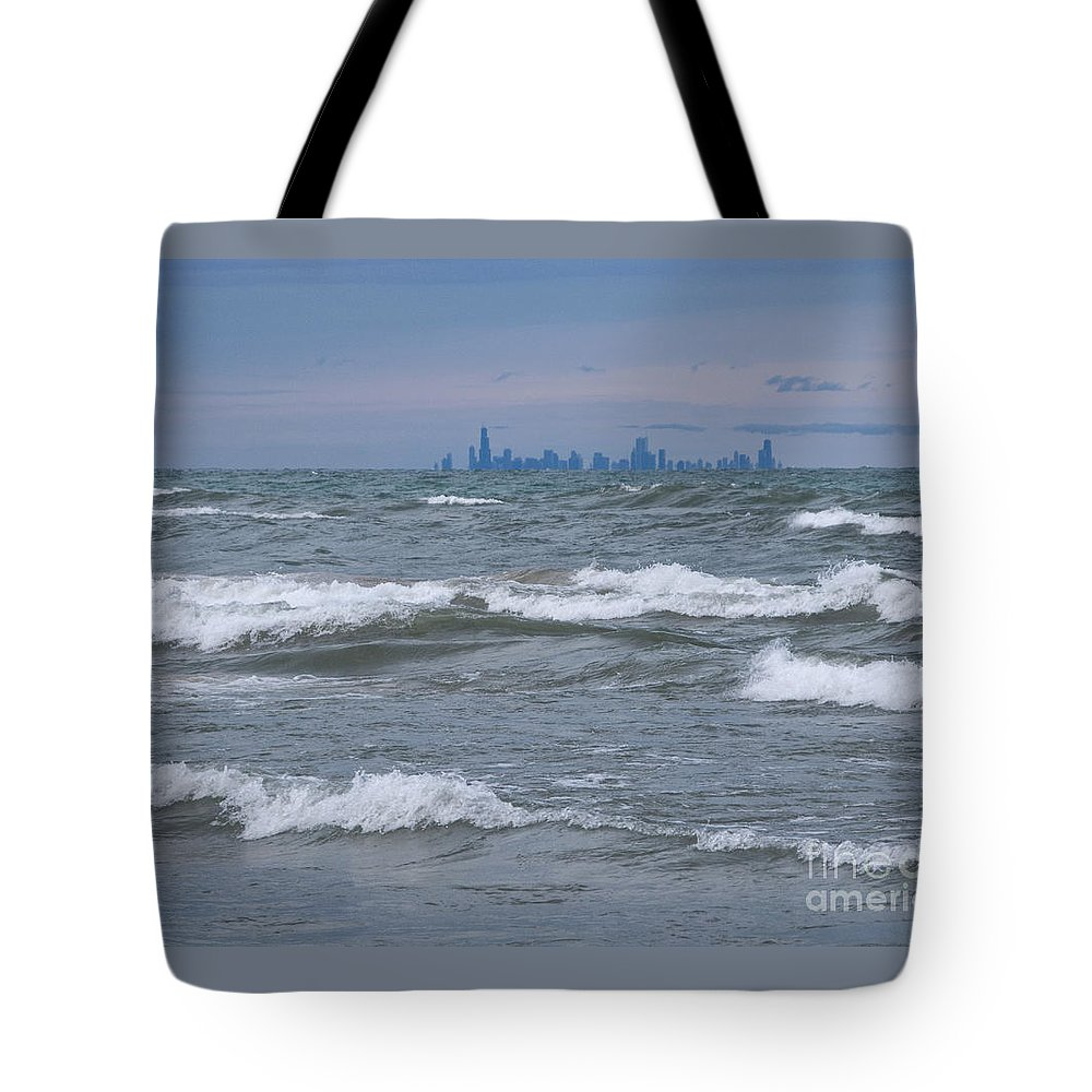 Chicagoland Tote Bag featuring the photograph Windy City Skyline by Ann Horn