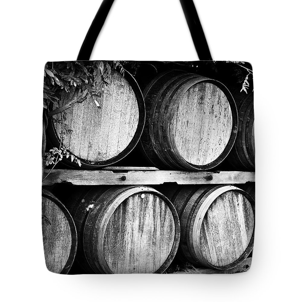 Wine Tote Bag featuring the photograph Wine Barrels by Scott Pellegrin