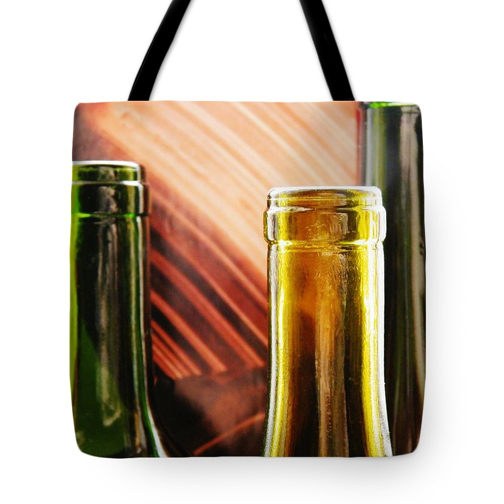Wine Bottles 2 Tote Bag featuring the photograph Wine Bottles 2 by Sarah Loft