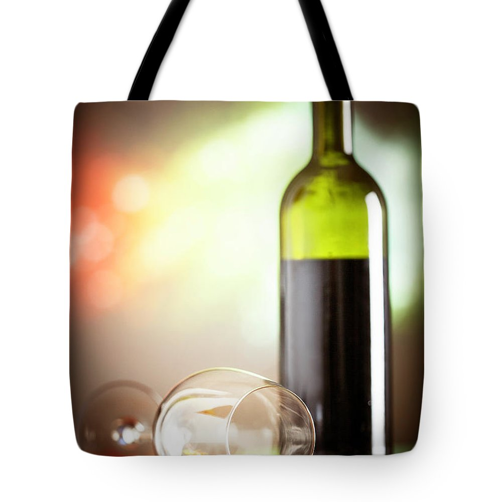 Alcohol Tote Bag featuring the photograph Wine Concept by Grki