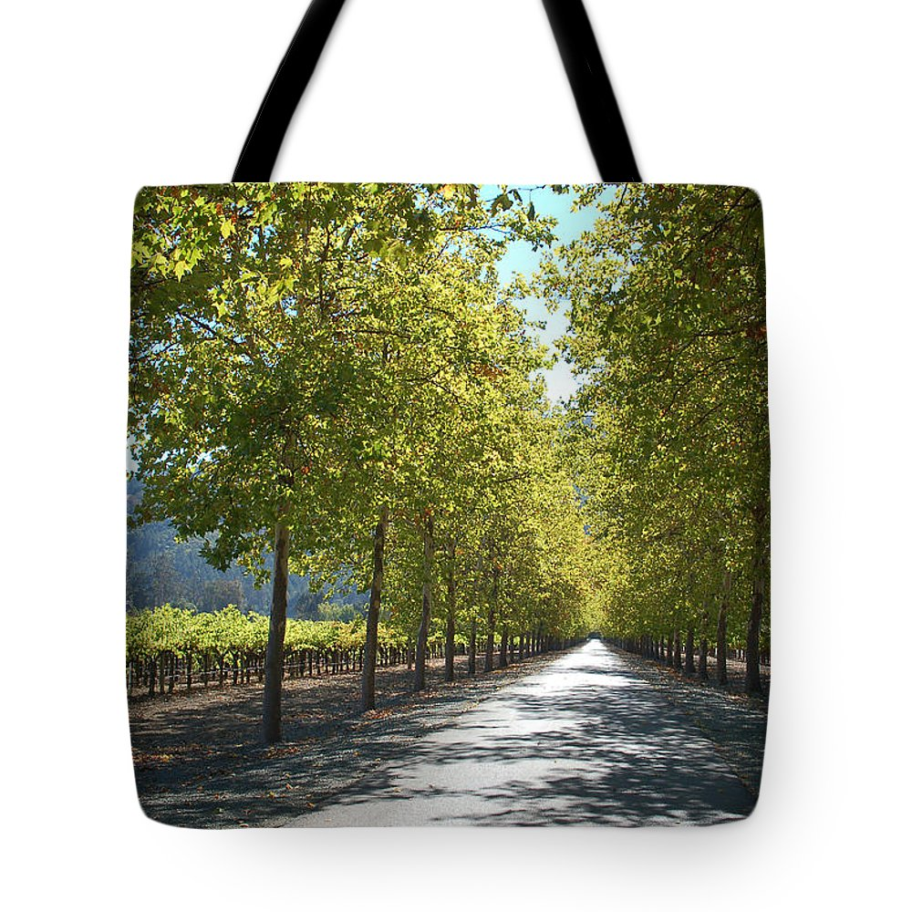 Napa Tote Bag featuring the photograph Wine Country Napa by Suzanne Gaff