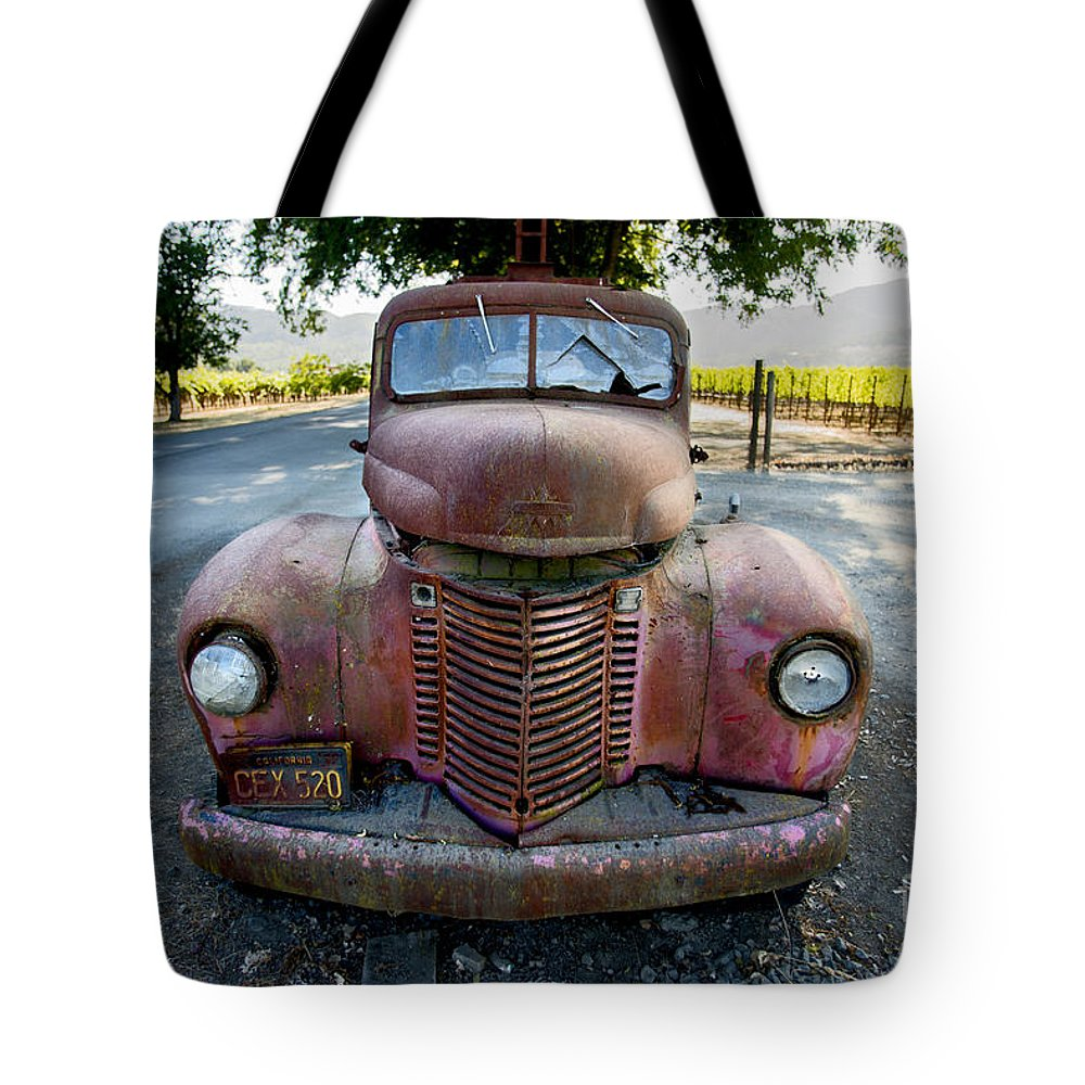 Wine Truck Tote Bag featuring the photograph Wine Truck by Jon Neidert