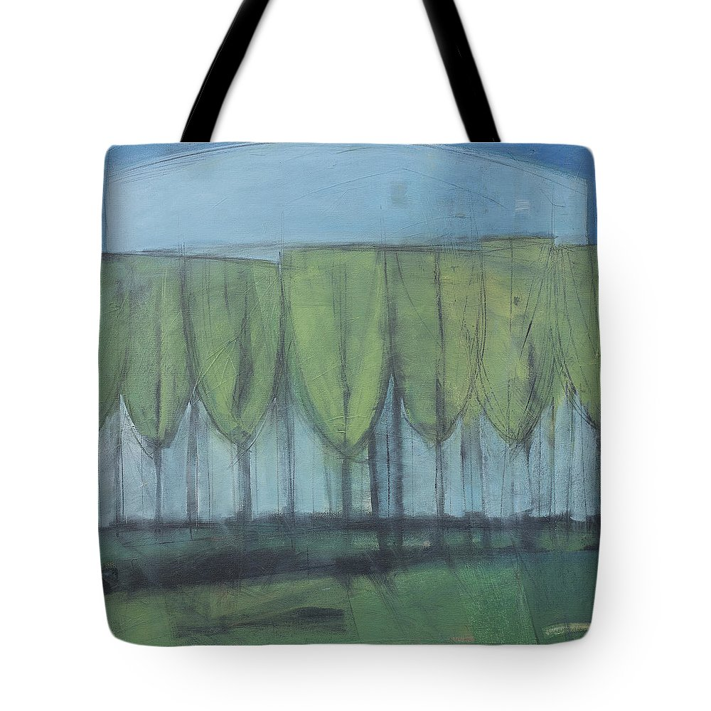 Wineglass Tote Bag featuring the painting Wineglass Trees by Tim Nyberg