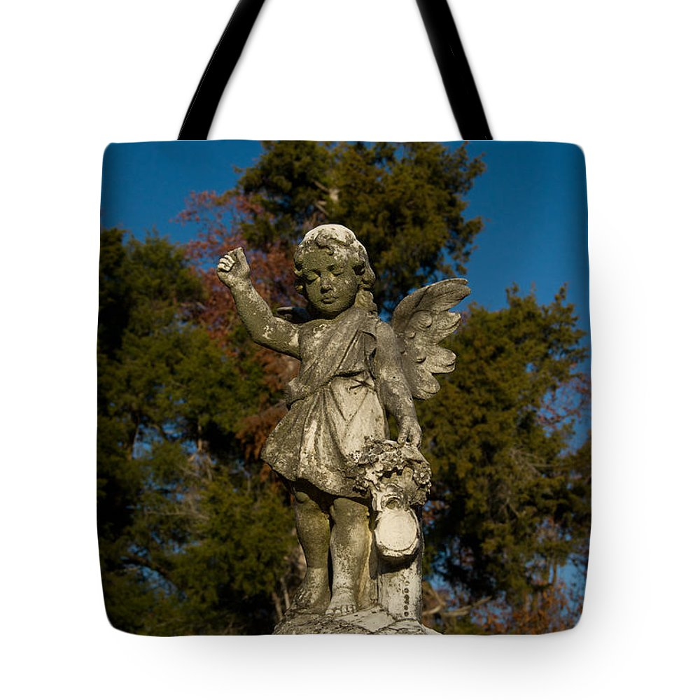 Winged Tote Bag featuring the photograph Winged Girl 12 by Douglas Barnett