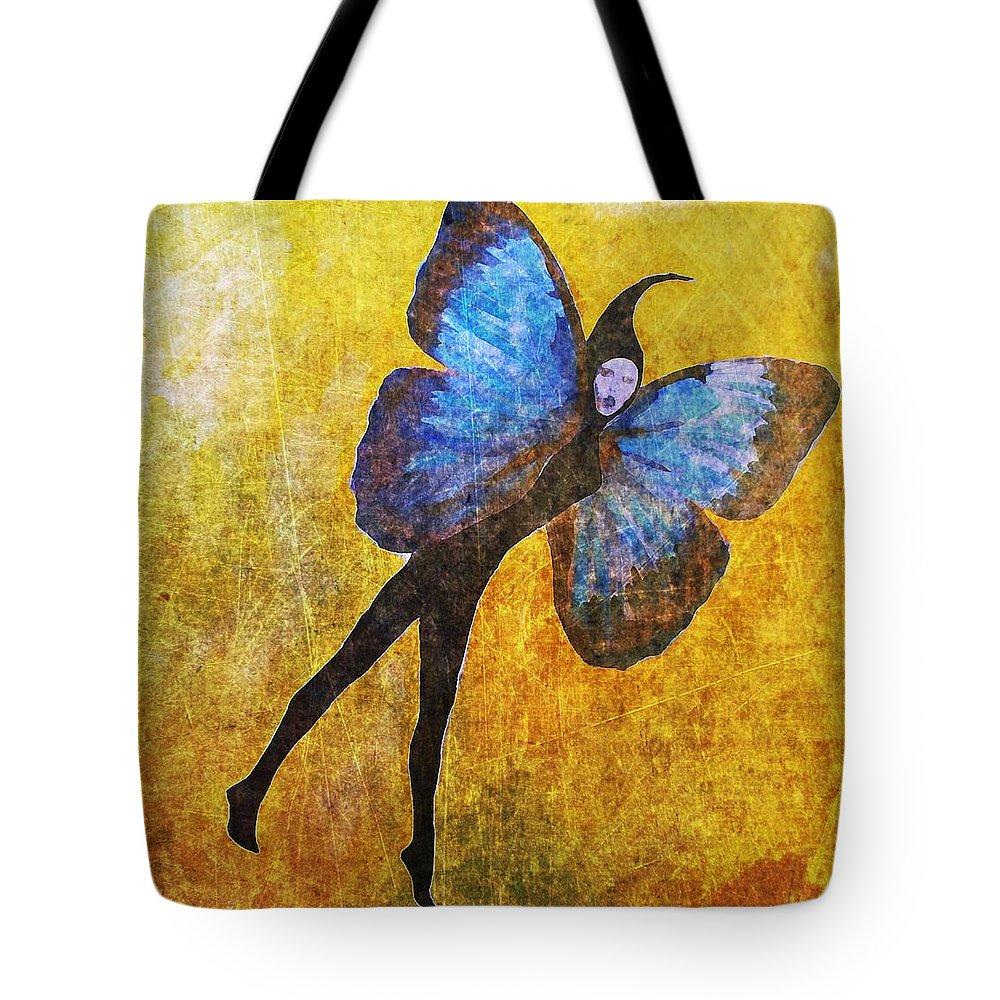 Wings Tote Bag featuring the digital art Wings 5 by Maria Huntley