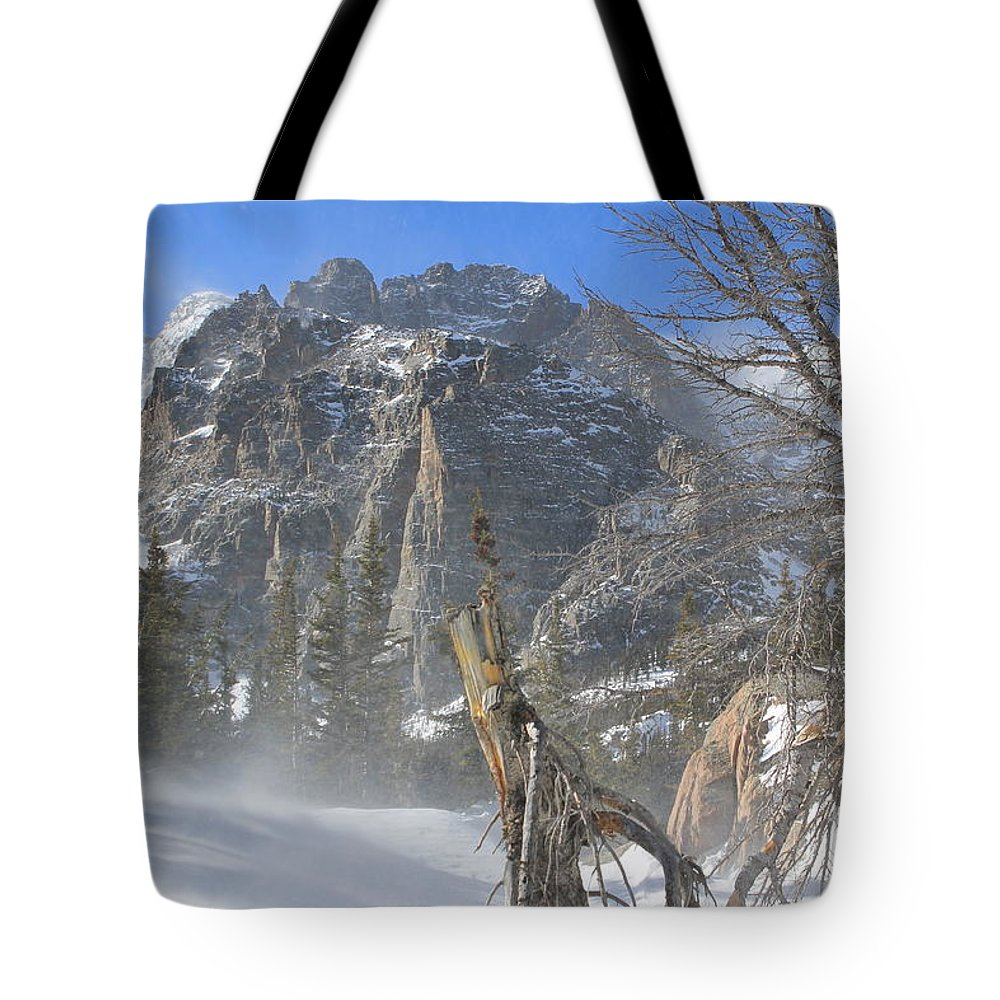 Winter Tote Bag featuring the photograph Winter At Loch Vale 3 by Tonya Hance