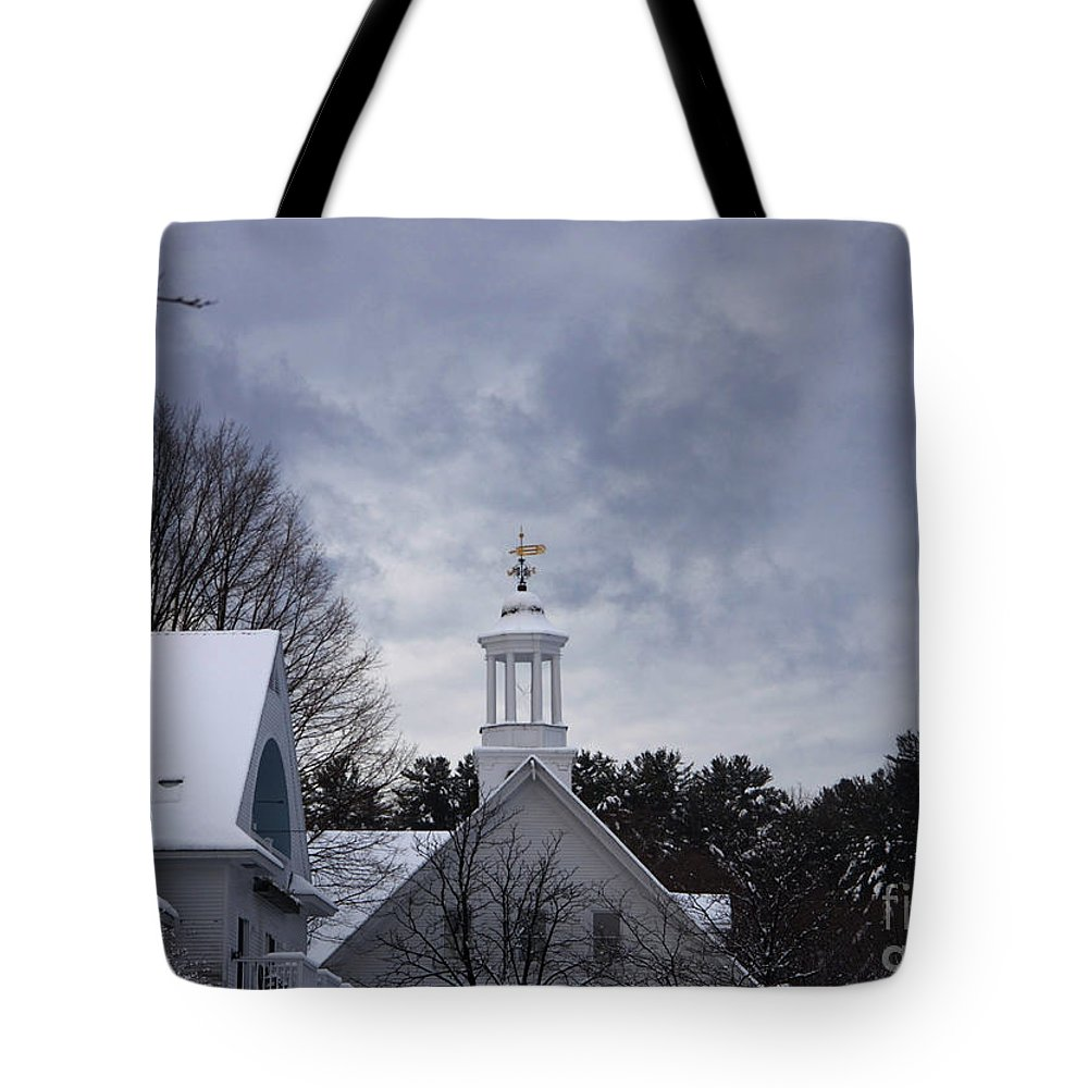 Meredith Tote Bag featuring the photograph Winter At Mill Falls by Michael Mooney