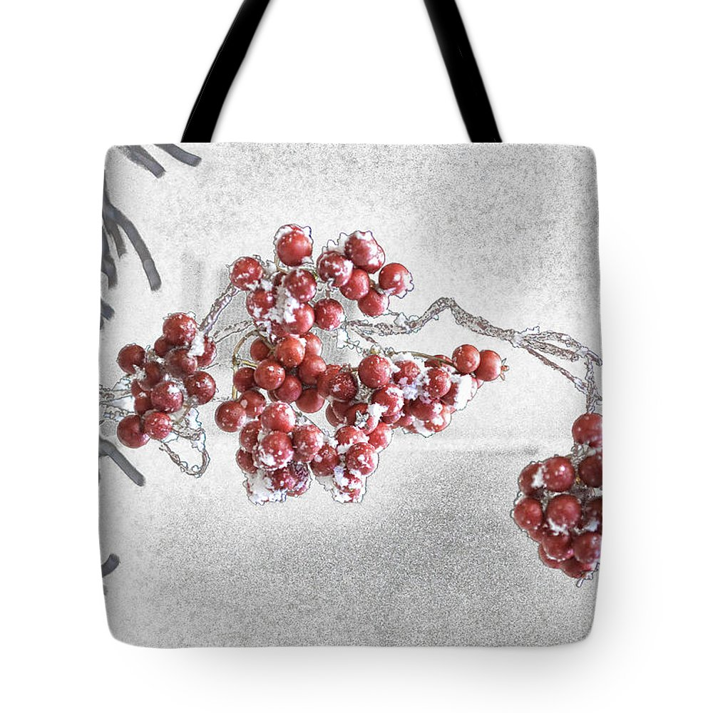 Berry Tote Bag featuring the photograph Winter Berries by Karin Everhart