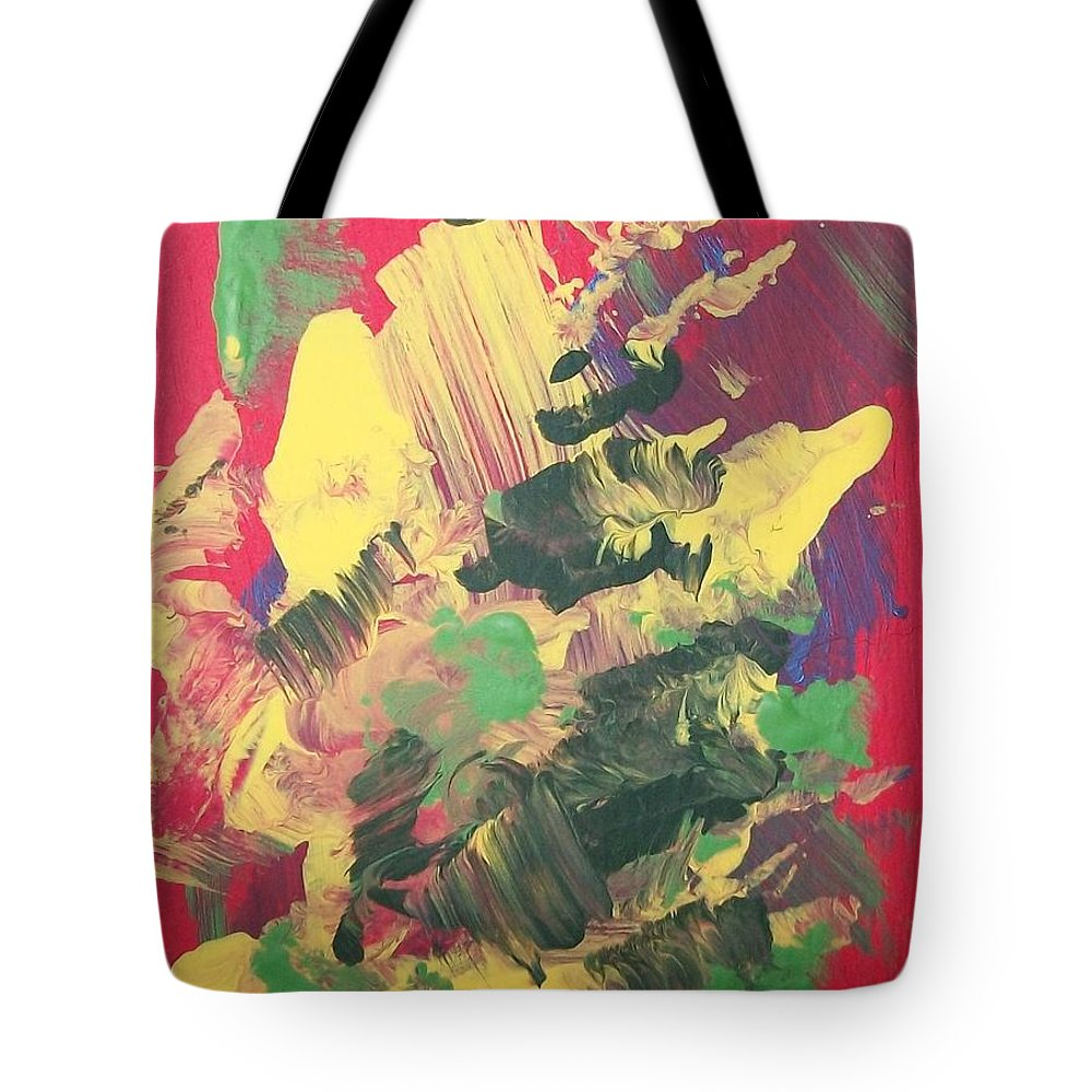 Abstact Tote Bag featuring the painting Winter Bouquet by Sharon Duguay