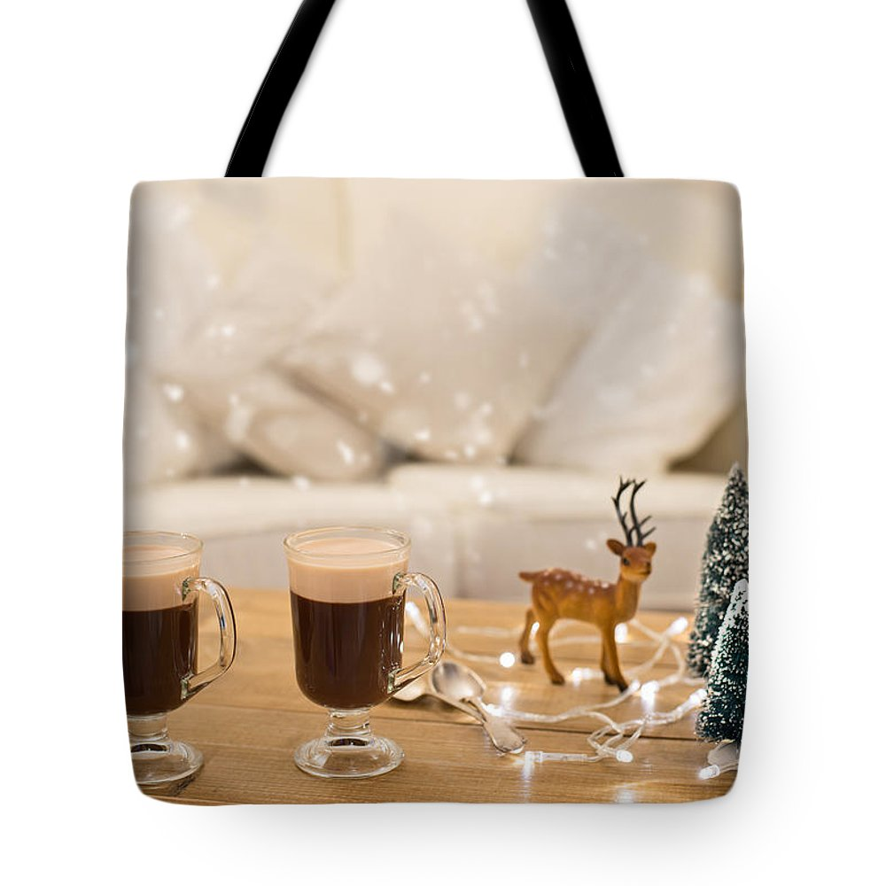 Coffee Tote Bag featuring the photograph Winter Coffee by Amanda Elwell